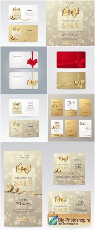 Elegant Sale Banners And Card - 8 Vector