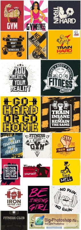 Fitness Motivation Poster - 21 Vector