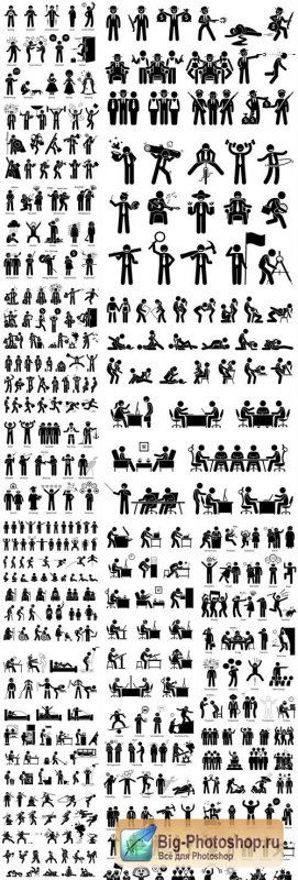 People Pictograms #12 - 25 Vector