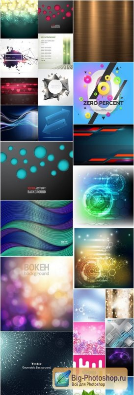 Abstract Background Collection #203 - 25 Vector