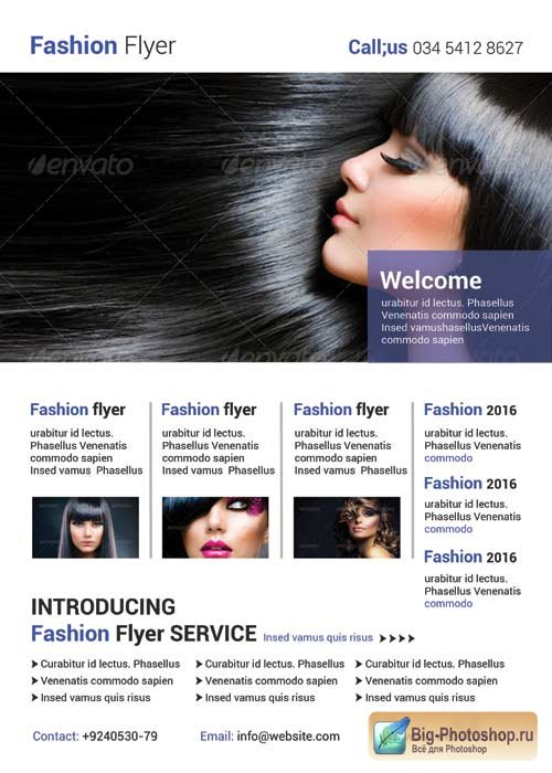 Fashion flyer V27 PSD Template
