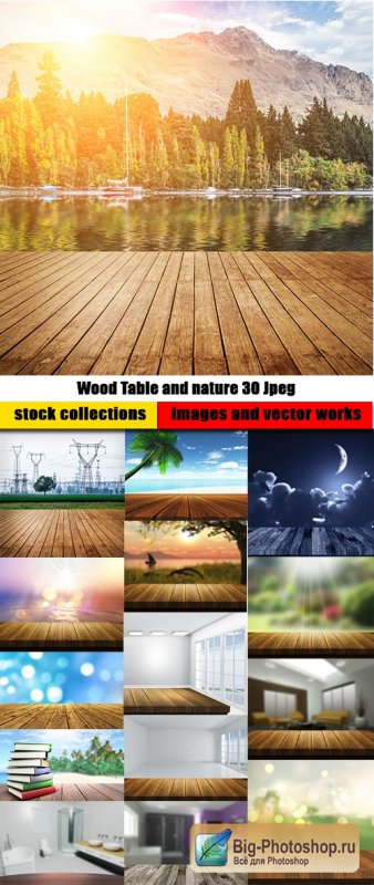 Wood Table and nature 30 Jpeg