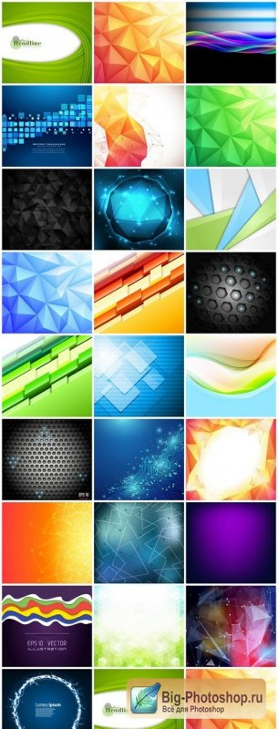 Abstract Background Collection #202 - 25 Vector