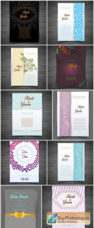 Vintage Wedding Invitation Brochure