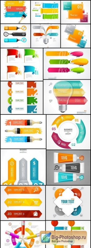 Infographics Design Elements #272 - 18 Vector