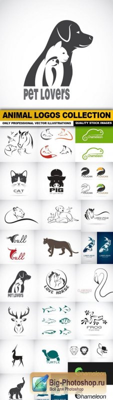 Animal Logos Collection - 25 Vector