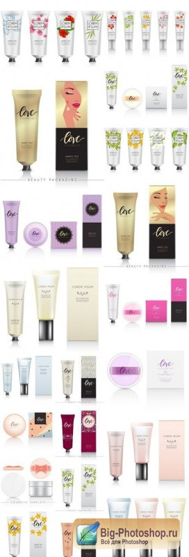 Cream Tube Cosmetics - 20 Vector