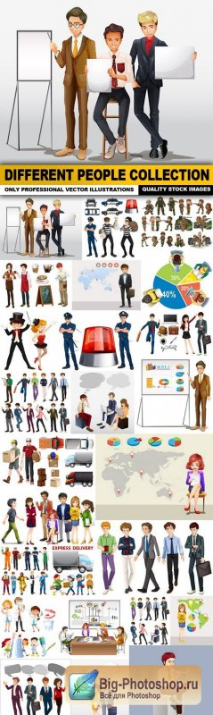 Different People Collection - 25 Vector