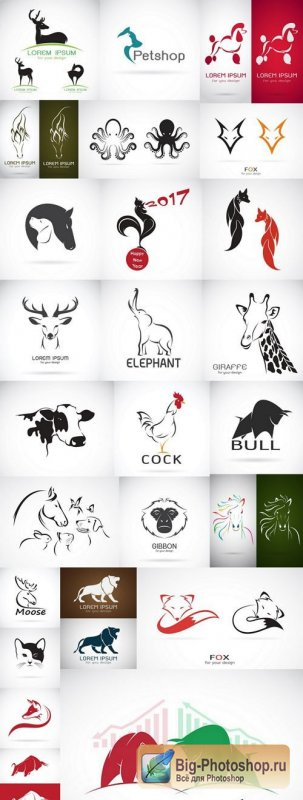 Animal Logos Collection #2 - 25 Vector