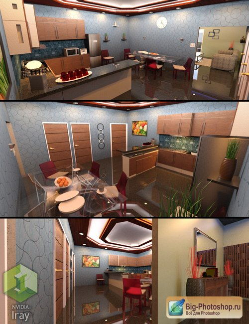Modern Kitchen and Dining Room Set 1