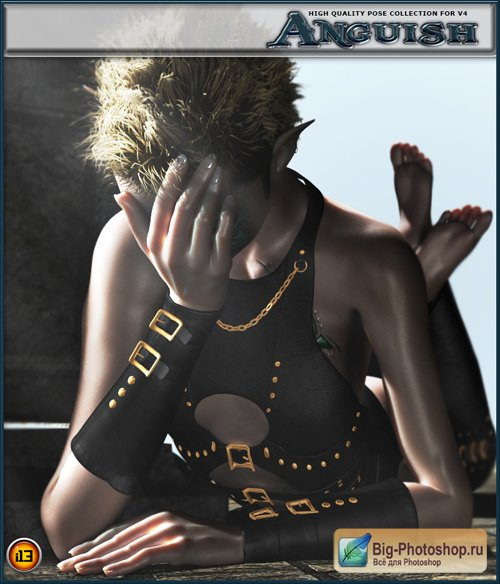 13 emotions ANGUISH POSE COLLECTION for v4