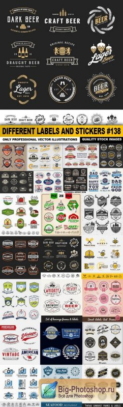 Different Labels And Stickers #138 - 26 Vector