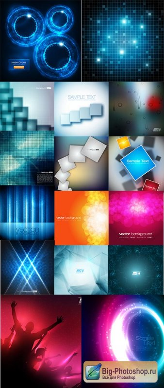 Abstract Background Collection#44 - 30 Vector