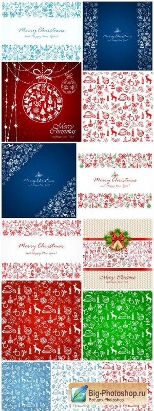 Christmas elements on white background - 13xEPS