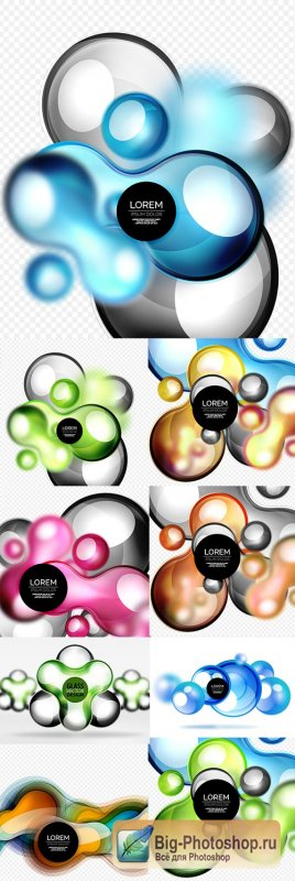 Abstract 3d decoration glass design bubble background
