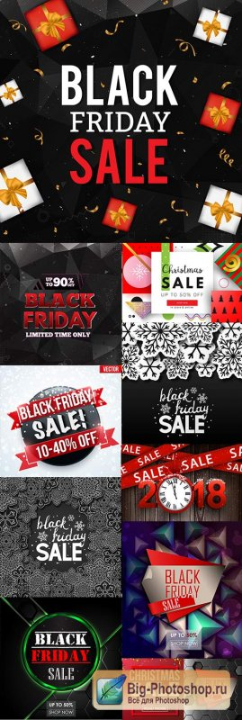 Black Friday Christmas sale special day design illustration 6
