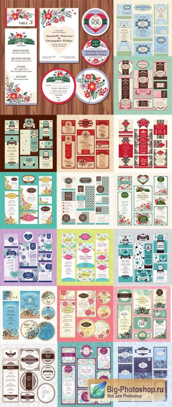 Wedding Cards Collection - 25 Vector