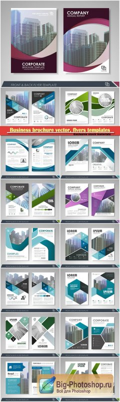 Business brochure vector, flyers templates, report cover design # 84