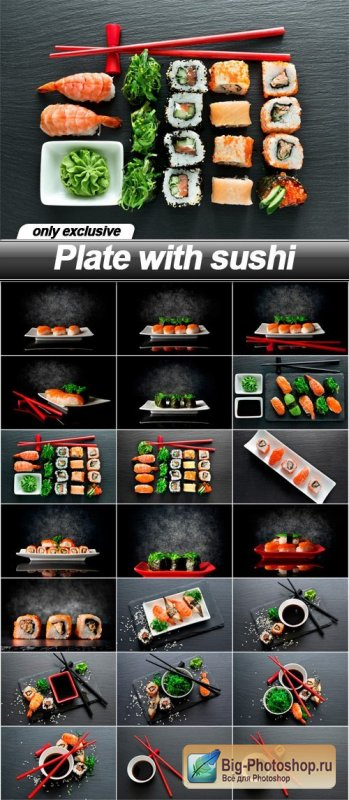 Plate with sushi - 24 UHQ JPEG