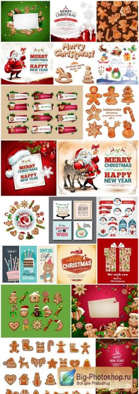 New Year 2017 & Christmas Design 9 - 20xEPS Vector Stock