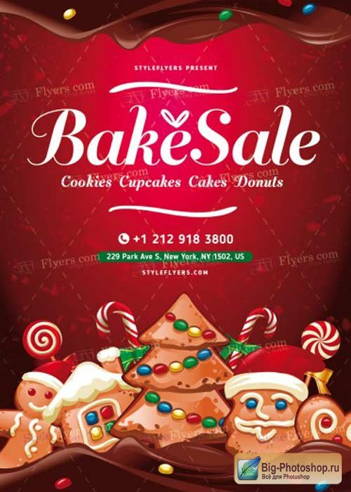 Bake Sale V17 PSD Flyer Template
