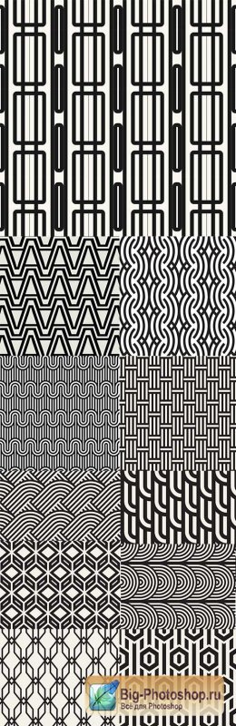 Modern abstract geometry seamless pattern design 20