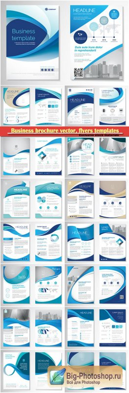 Business brochure vector, flyers templates, report cover design # 102