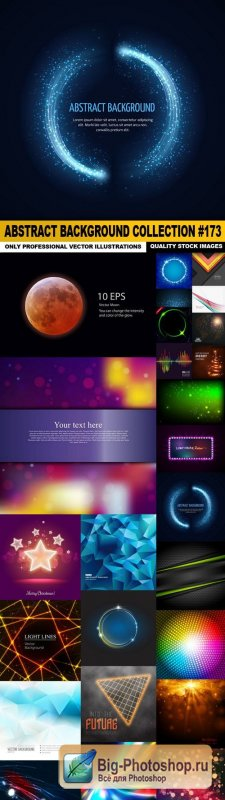 Abstract Background Collection #173 - 25 Vector