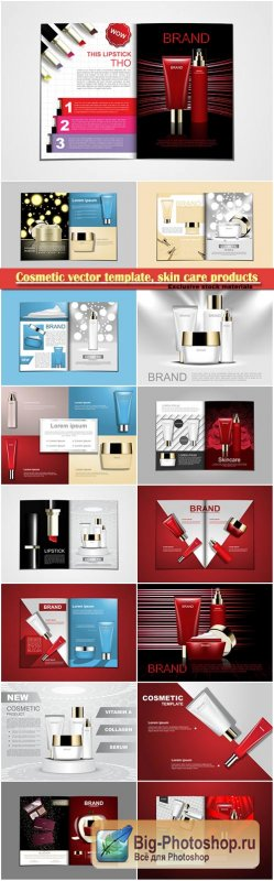 Cosmetic vector template, skin care products concept