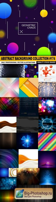 Abstract Background Collection #174 - 25 Vector