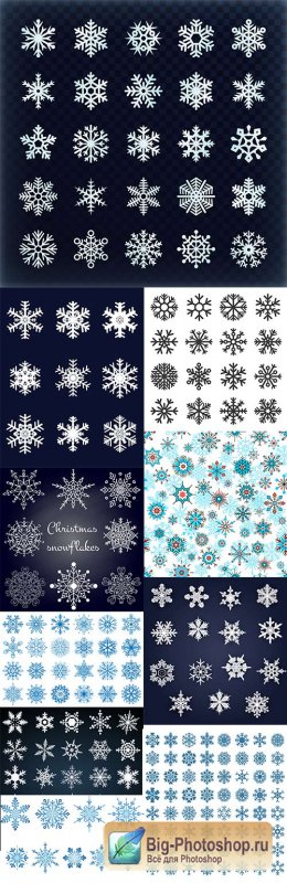 Christmas decorative snowflakes design elements