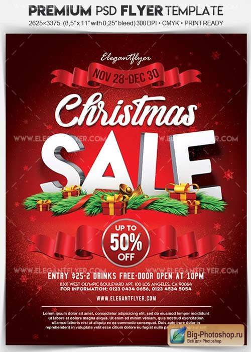 Christmas Sale V38 2017 Flyer PSD Template + Facebook Cover