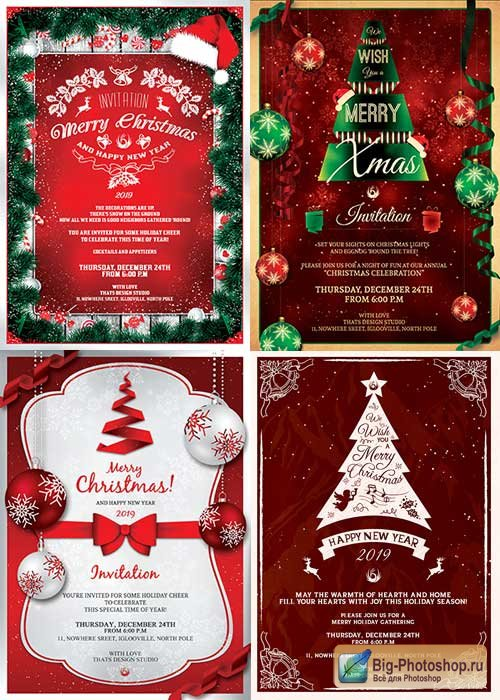 Christmas Invitation V2 4in1 Template