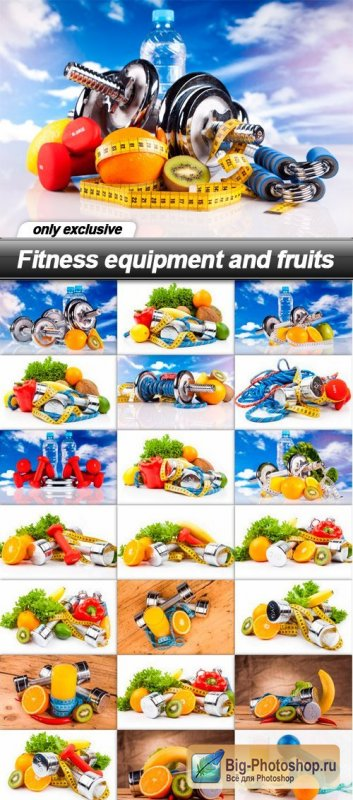 Fitness Equipment & Fruits 25xJPG