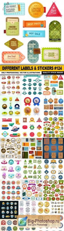 Different Labels & Stickers #124 - 25 Vector