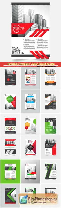 Brochure template vector layout design, corporate business annual report, magazine, flyer mockup # 108