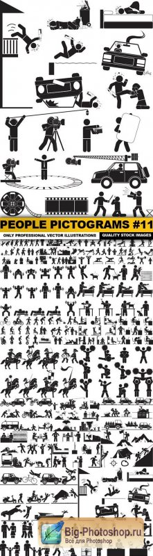 People Pictograms #11 - 25 Vector