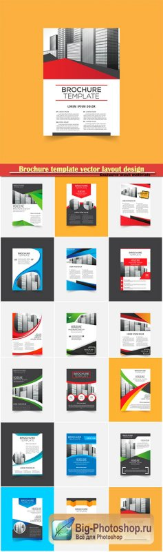 Brochure template vector layout design, corporate business annual report, magazine, flyer mockup # 110