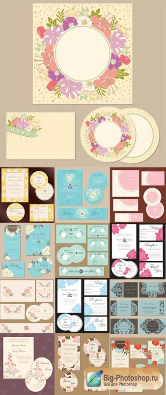 Wedding Cards Collection #2 - 25 Vector