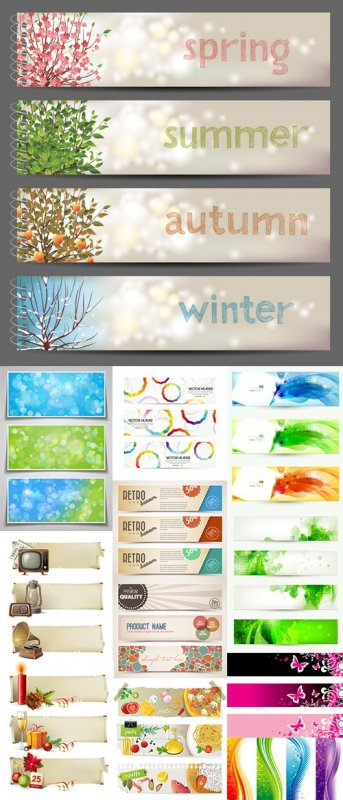Big Collection of Vector Banners 50xEPS