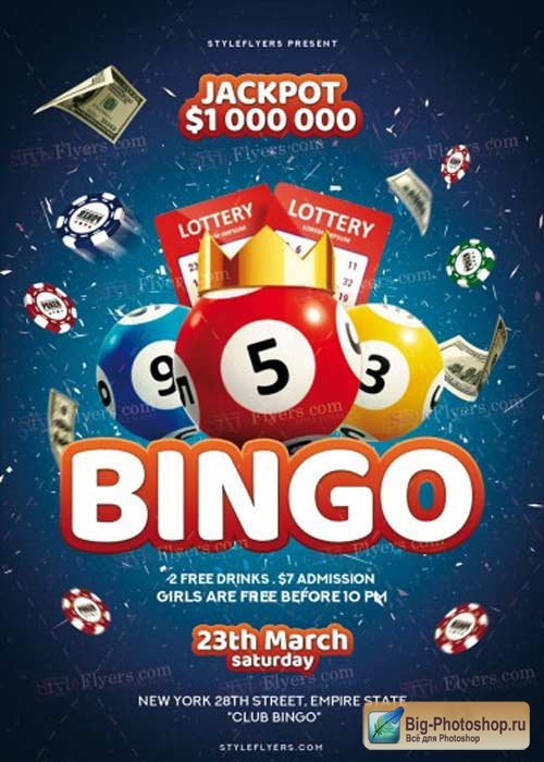 Bingo V1 2018 PSD Flyer Template