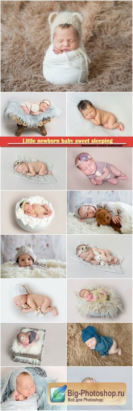 Little newborn baby sweet sleeping