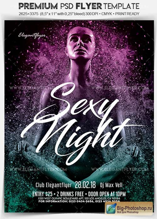 Sexy Night V03 2018 Flyer PSD Template + Facebook Cover