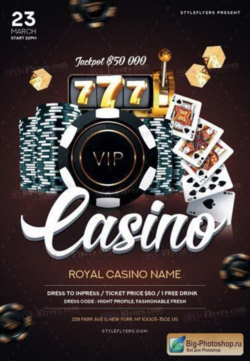 Casino V6 2018 PSD Flyer Template