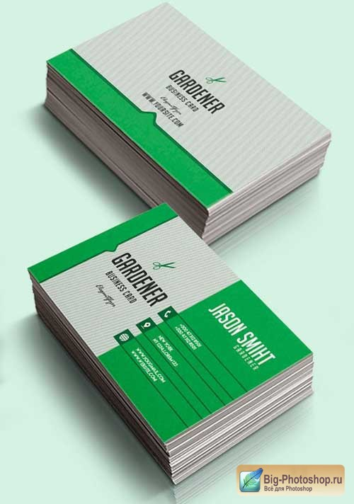 Gardener V1 2018 Business Card Templates PSD