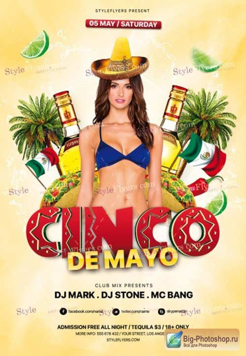 Cinco De Mayo V10 2018 PSD Flyer Template