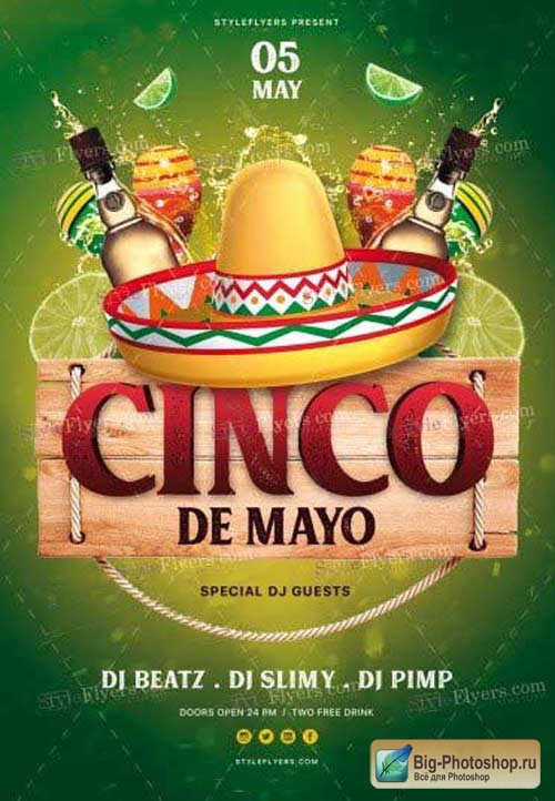 Cinco De Mayo V18 2018 PSD Flyer Template
