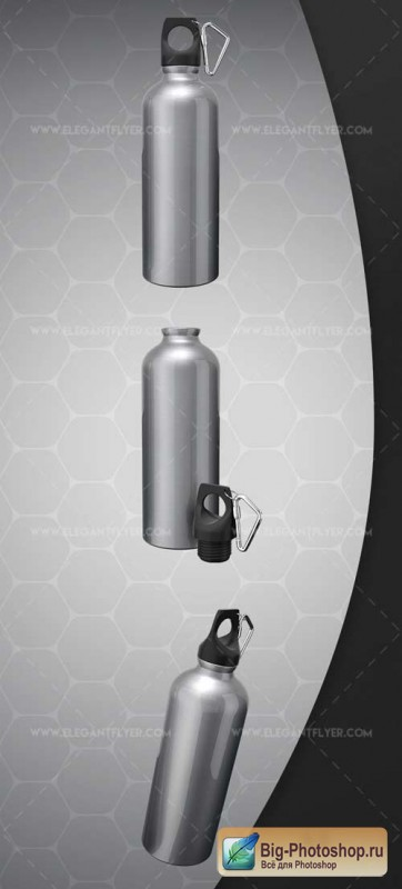 Water bottle V2 2018 Premium 3d Render Templates