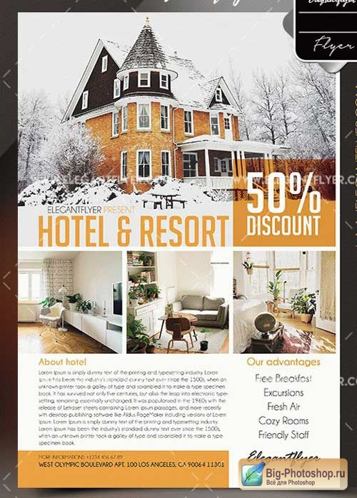 Hotel & Resort V1 2018 Flyer PSD Template