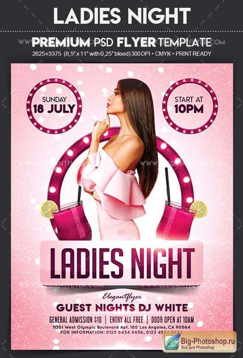 Ladies Night V11 2018 Flyer PSD Template